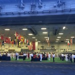 Navy League Members join a reception on the USS Carl Vinson while it was anchored in Changi. Photo courtesy of Navy League Member Gabriel Breeman.