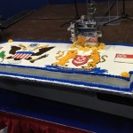 A VERY large aircraft carrier cake