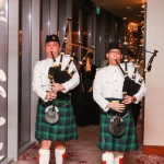 Bagpipes lead the way into the Navy Ball