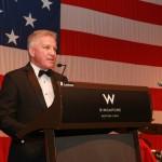 Navy League, Singapore Chapter, President CDR (Ret.) Ray Corrigan speaks