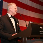 Deputy Chief of Mission of the U.S. Embassy in Singapore, Blair Hall gives a speech.