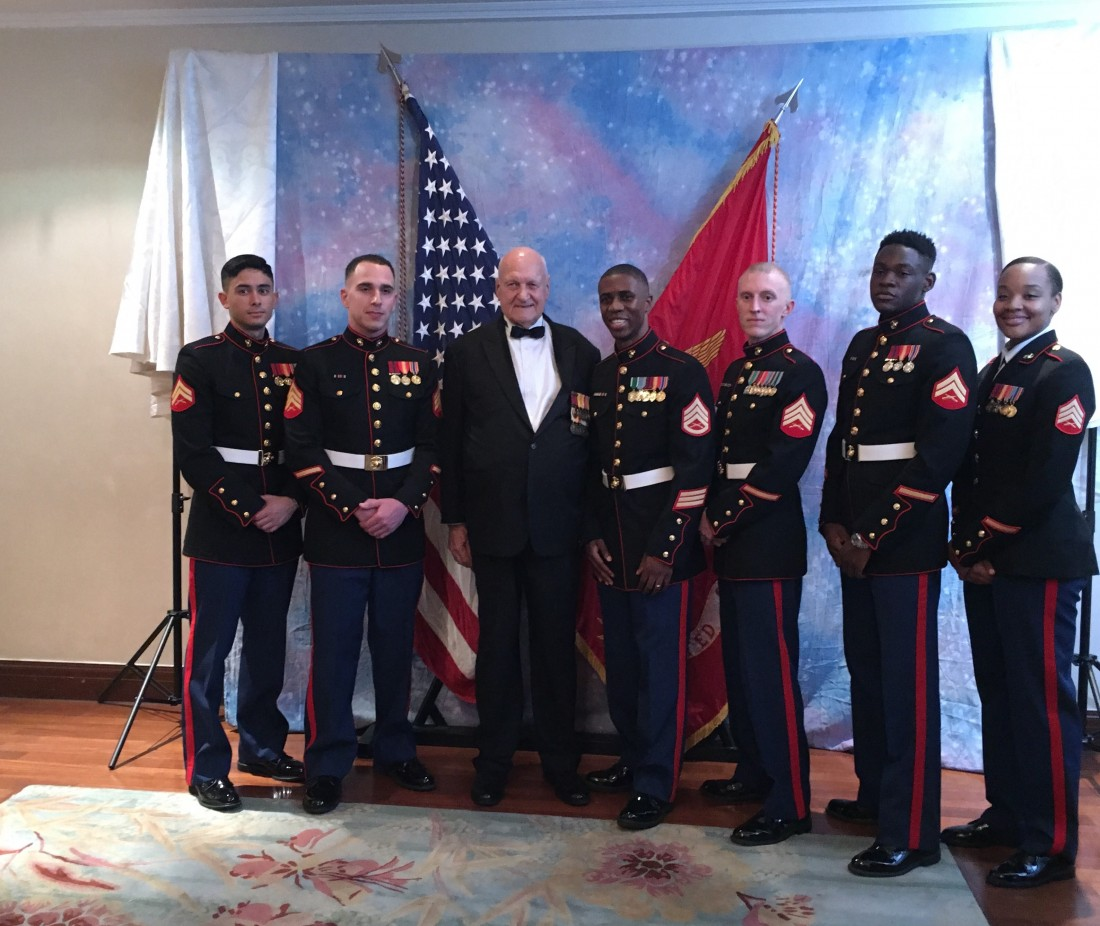 Cpl. William Hook with the Singapore Detachment of the U.S. Marines