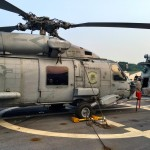 """A MH-60R Seahawk helicopter operated by Helicopter Maritime Strike Squadron 35 (HSM-35) """"Magicians"""""""