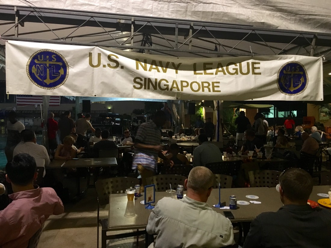 The Navy League partnered with The American Club on a poolside reception and BBQ.