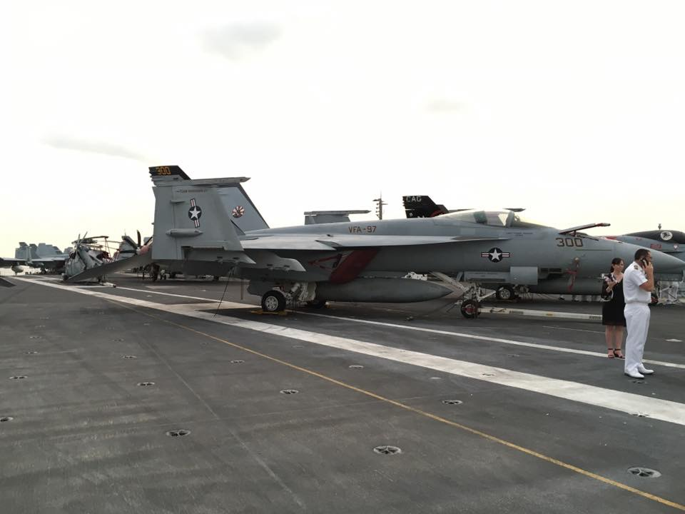On the flight deck of the USS Stennis
