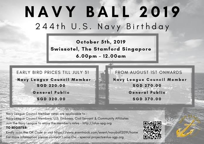 NLUS Singapore | Navy Ball 2019 Ticket Sale